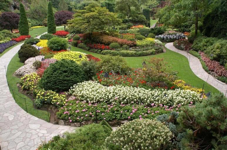 Butchart gardens,