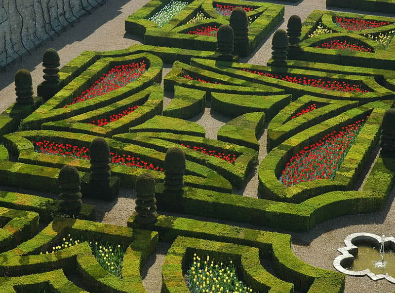 gardens of Chateu de Villandry